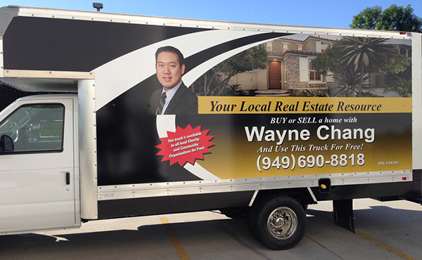 real estate car wrap