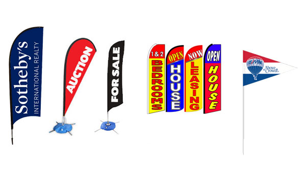 real estate feather flags