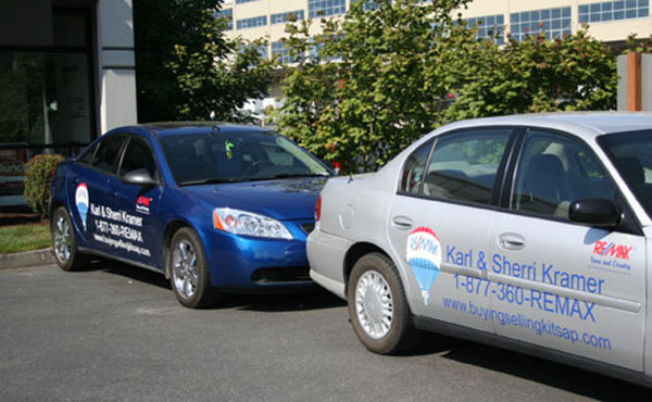 real estate car graphics and wraps
