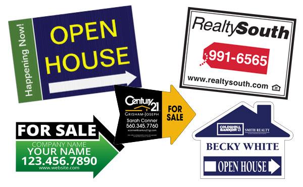 real estate yard sign printing