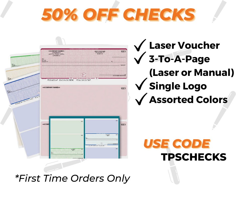 business check printing special