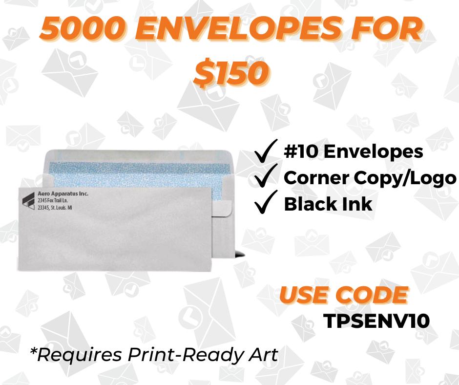 custom envelope printing with logo special