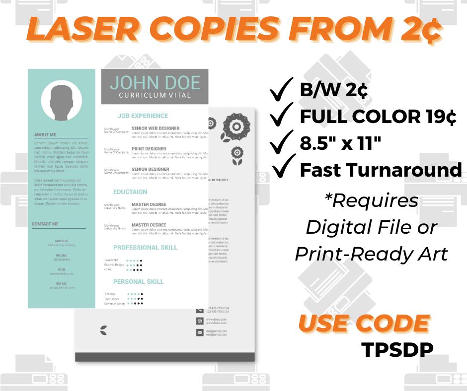 laser copies printing special