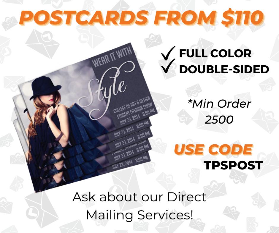 custom postcard printing special