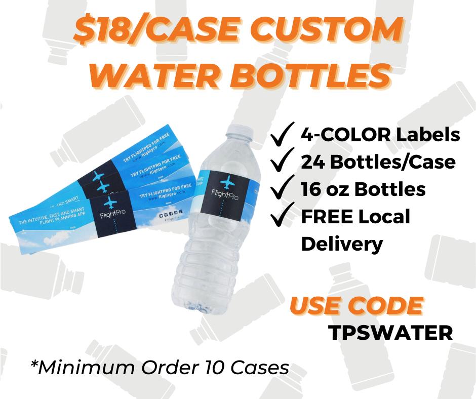 custom water bottle label printing special