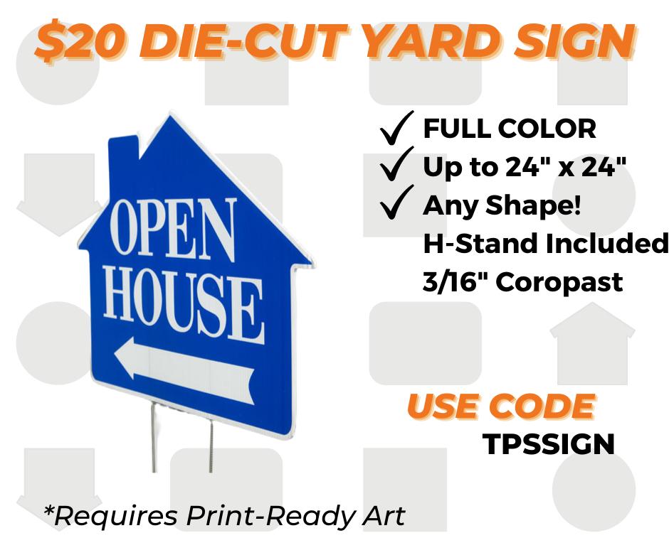 custom die cut yard sign special