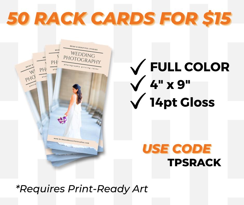custom rack card printing special