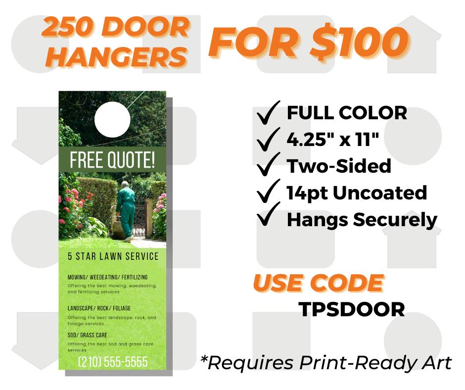 custom door hanger printing special