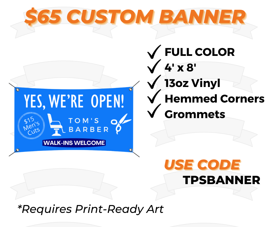 4 x 8 custom banner printing special