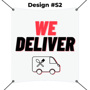 custom square banner printing template - we deliver red