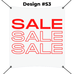 custom square banner printing template - sale red