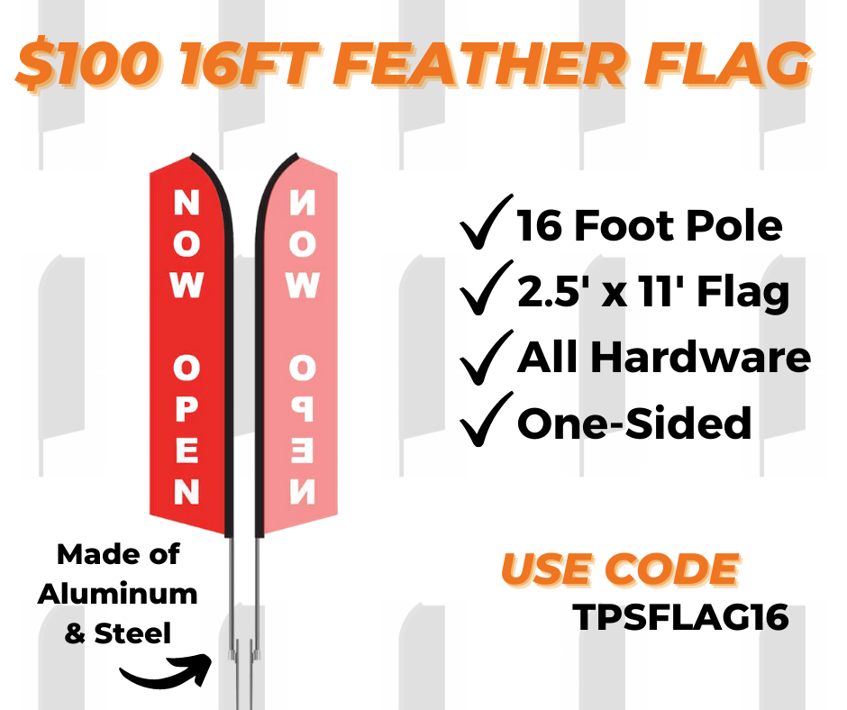 16 ft feather flag printing special