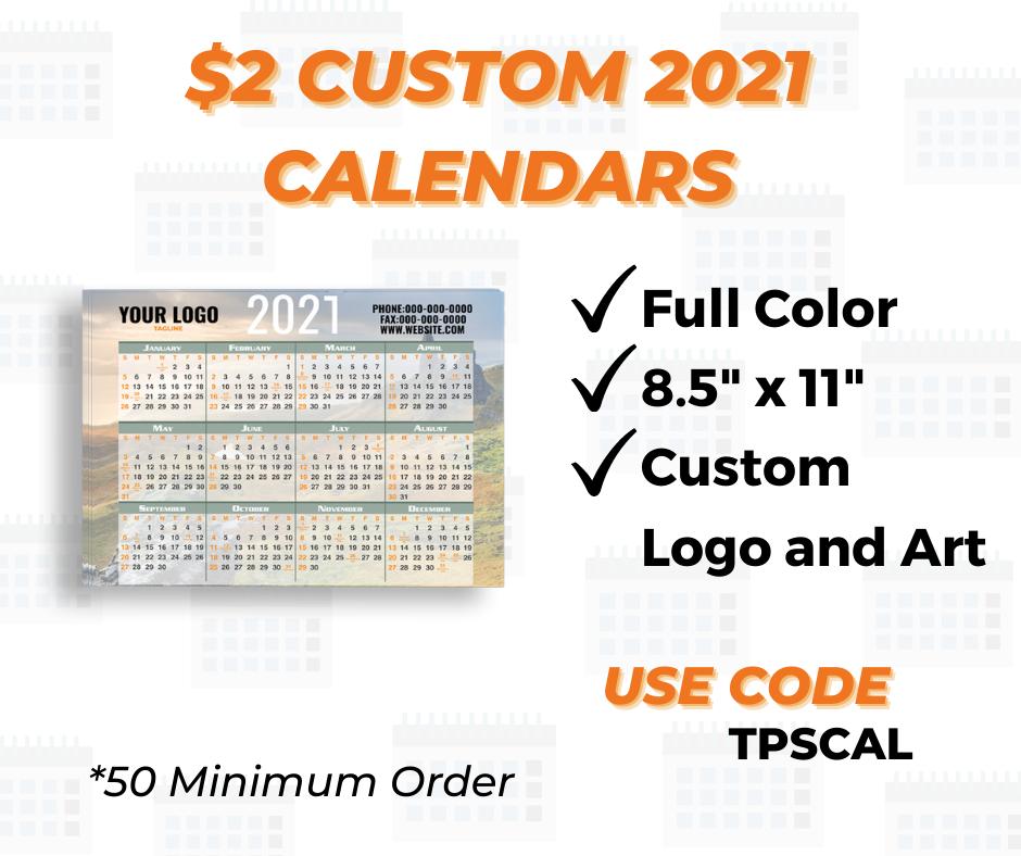 custom calendar printing special