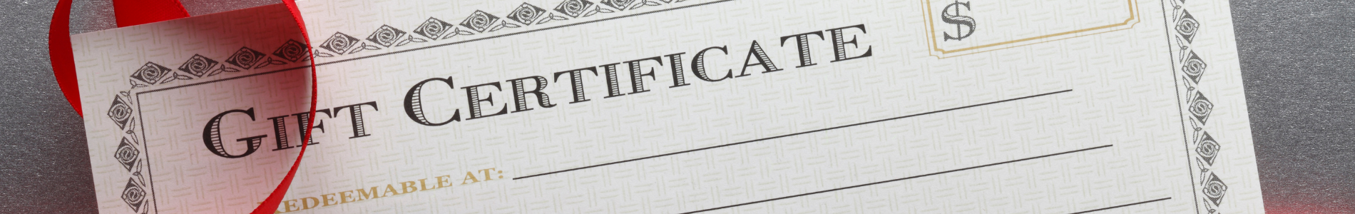 custom gift certificate printing