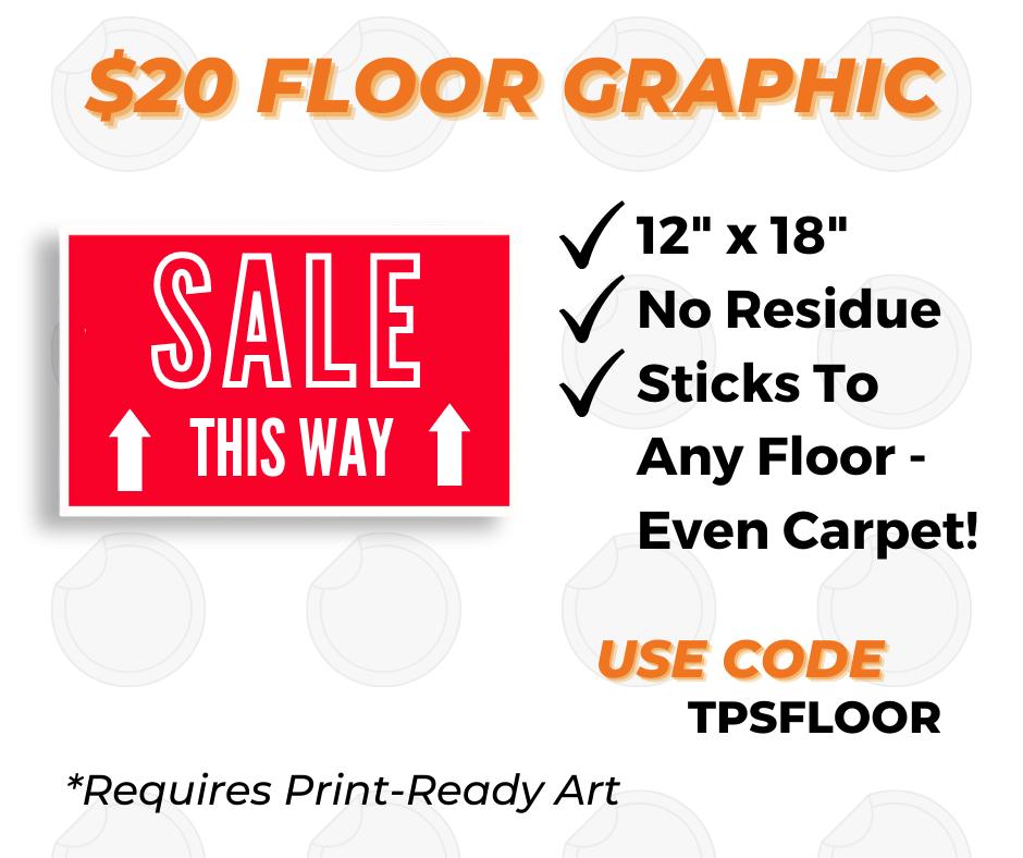 custom floor graphic printing special