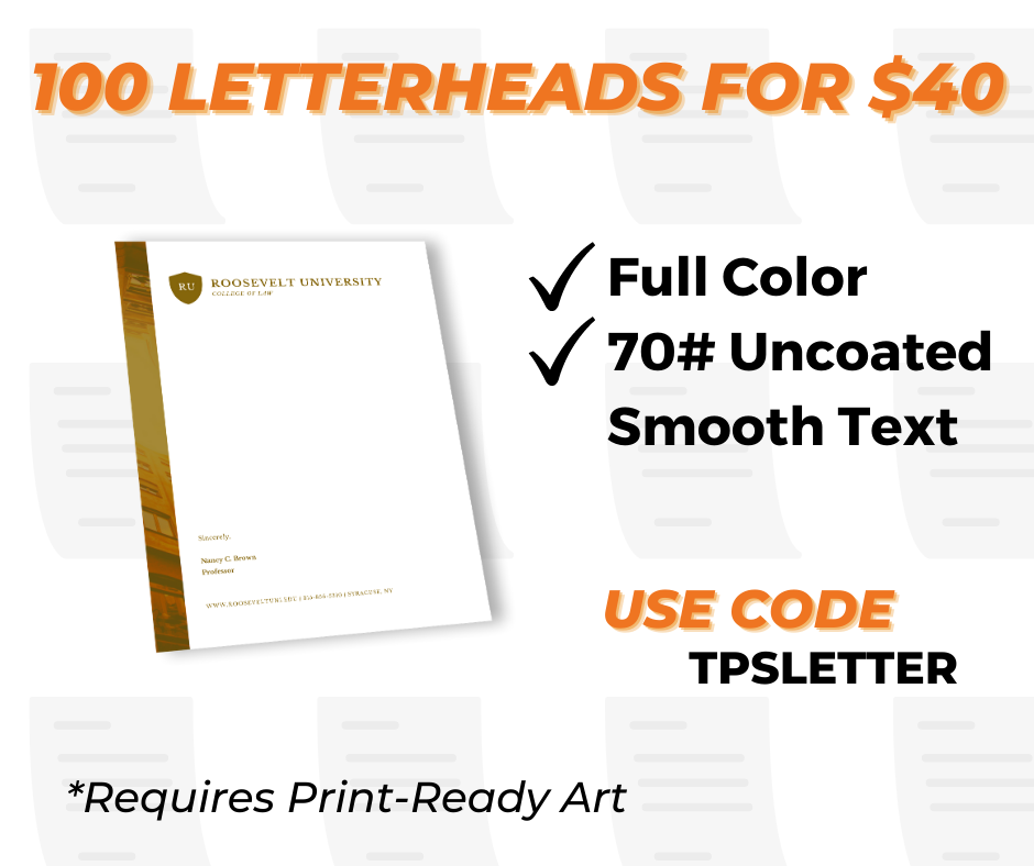 letterhead printing services special