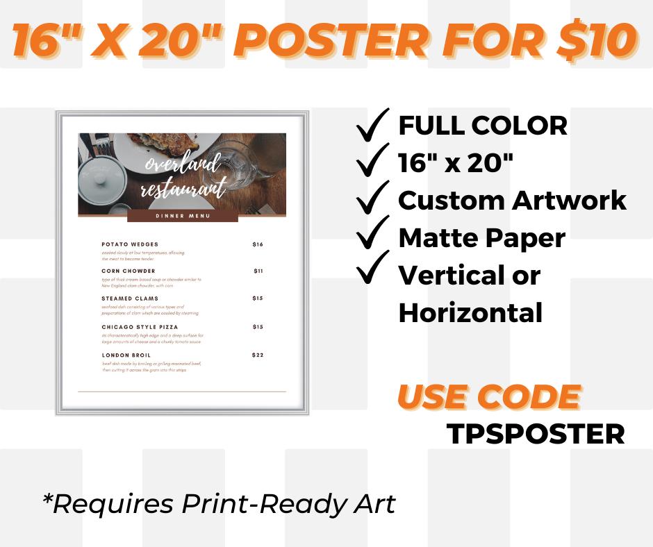 custom poster printing special