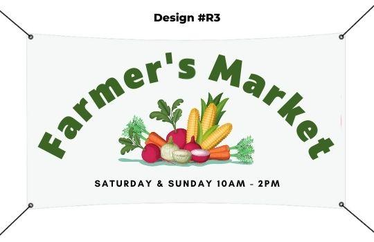 4 x 5 Banner template - Farmer's Market