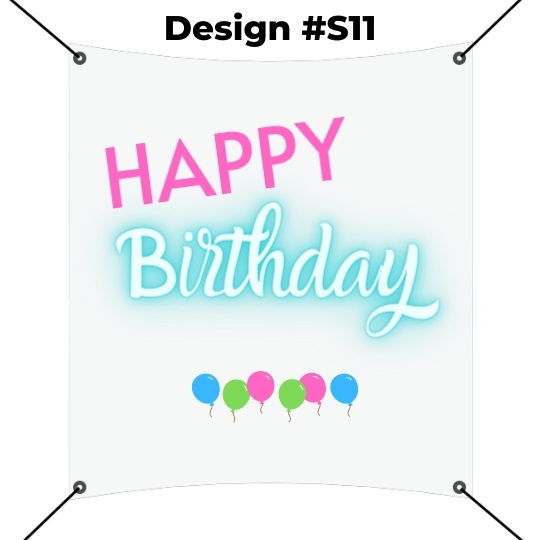 Square Banner Template - Happy Birthday