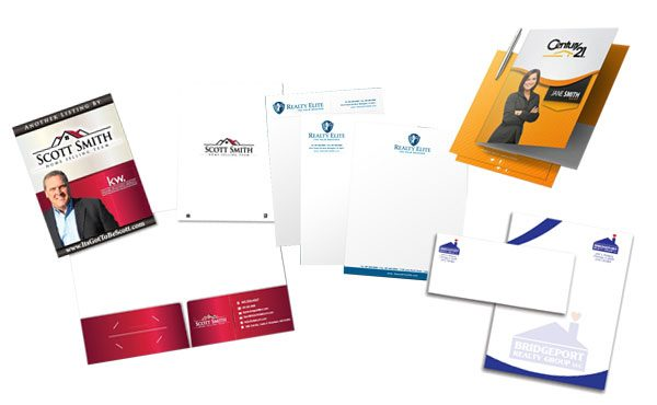 real estate print marketing and stationary