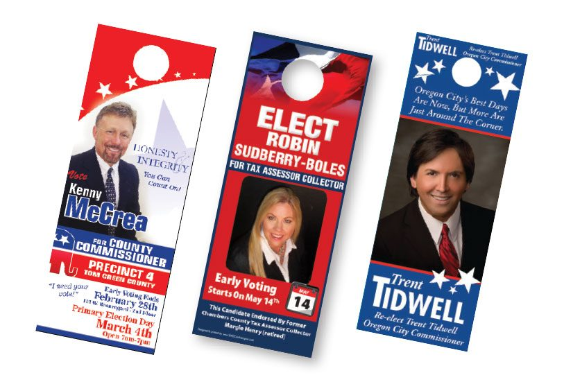 campaign door hanger printing