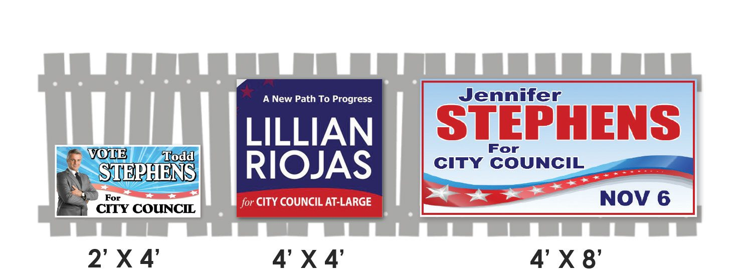 custom fence sign printing for campaigns