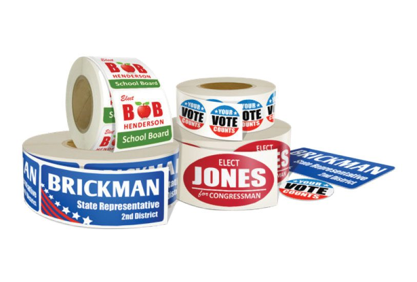 campaign stickers and labels printing