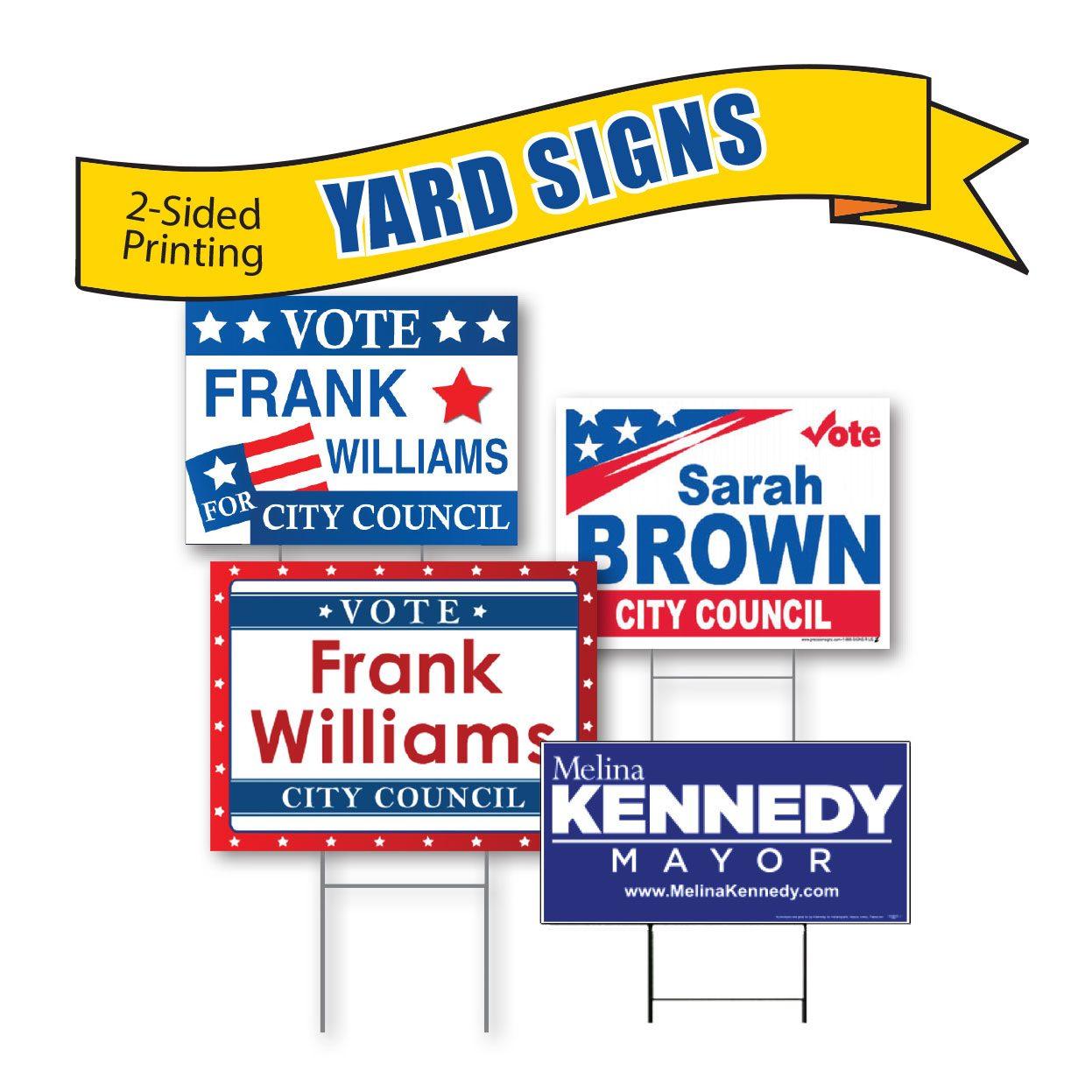custom campaign yard signs